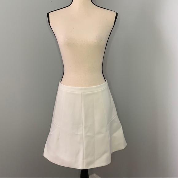 J. CREW | White Lined Skirt